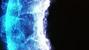 五颜六色的发光的能量道路的抽象动画 不同颜色光能圆环在黑背景的散发 股票视频