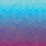 五颜六色的发光的蓝色和紫罗兰色几何背景 也corel凹道例证向量 库存例证