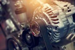 五颜六色的发动机零件 免版税库存图片