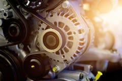 五颜六色的发动机零件 免版税库存照片