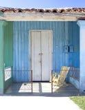 五颜六色的古巴门廊vinales 库存照片