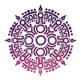 五颜六色的古老墨西哥神话标志 库存例证