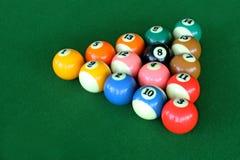 五颜六色的台球体育 库存图片