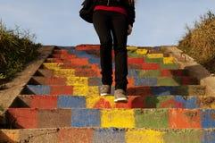 五颜六色的台阶 库存图片