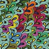 五颜六色的叶子无缝的样式 图库摄影