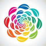 五颜六色的叶子的来回排列 免版税库存照片