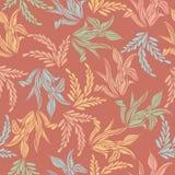 五颜六色的叶子花无缝的样式背景  免版税库存照片