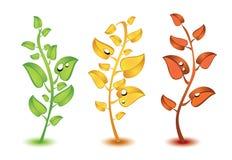 五颜六色的叶子 库存例证
