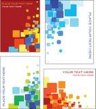 五颜六色的名片模板设计 免版税库存照片