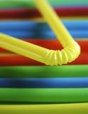 五颜六色的吸管 免版税库存图片