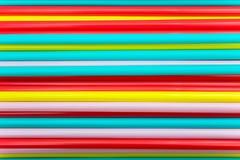 五颜六色的吸管 库存照片