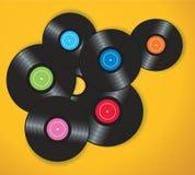 五颜六色的唱片背景传染媒介例证 库存照片