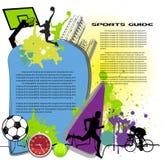 五颜六色的商务页体育运动 库存照片