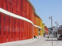 五颜六色的商展大厦在萨瓦格萨 免版税库存图片