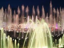 五颜六色的喷泉水 库存照片