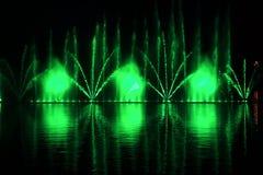 五颜六色的喷泉细节  免版税库存照片