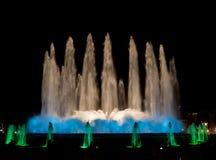 五颜六色的喷泉 图库摄影
