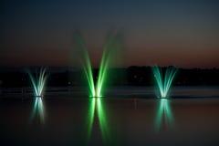 五颜六色的喷泉 免版税图库摄影