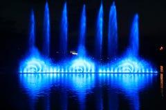 五颜六色的喷泉Landsape  免版税图库摄影