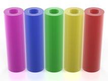 五颜六色的图形管 免版税库存图片