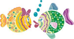 五颜六色的图表鱼传染媒介 库存照片