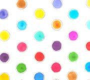五颜六色的圆点样式 库存照片
