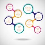 五颜六色的圆的图infographics 库存照片