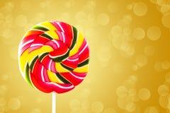 五颜六色的圆的形式棒棒糖 库存图片