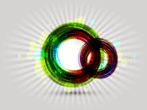 五颜六色的圆的抽象背景 免版税图库摄影