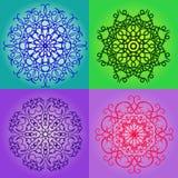 五颜六色的圆的样式集合 免版税库存照片