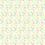 五颜六色的圆的泡影样式背景纹理 免版税库存照片