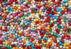 五颜六色的圆的糖果纹理 免版税库存照片