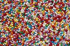 五颜六色的圆的糖果纹理 图库摄影