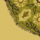 五颜六色的圆的花卉边界角落摘要背景 库存照片