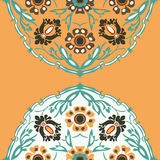 五颜六色的圆的花卉边界角落背景 库存图片