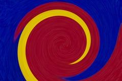五颜六色的圆的转动摘要背景 免版税图库摄影