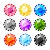 五颜六色的圆的金刚石 免版税库存照片