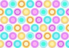 五颜六色的圈子充满另外样式 库存照片