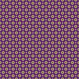五颜六色的圈子和小点无缝的样式 霓虹绿色和紫色 孩子、男孩和女孩的现代设计 库存图片
