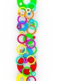 五颜六色的圈子背景 免版税图库摄影