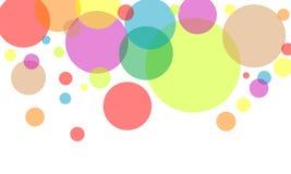 五颜六色的圈子 库存图片