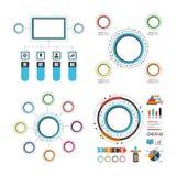 五颜六色的圈子infographic集合 库存图片