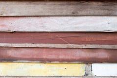 五颜六色的土气木纹理墙纸背景 装饰设计 免版税库存图片