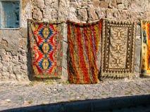 五颜六色的土耳其地毯,土耳其 免版税库存照片