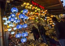 五颜六色的土耳其灯笼 免版税库存图片
