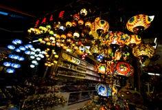 五颜六色的土耳其灯笼 库存图片