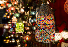 五颜六色的土耳其灯笼 图库摄影