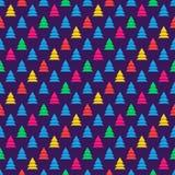 五颜六色的圣诞树无缝的样式 库存图片