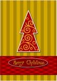 五颜六色的圣诞树 免版税库存照片