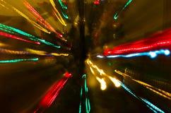 五颜六色的圣诞灯抽象 库存照片